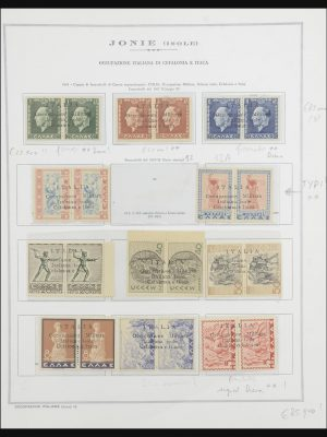 Stamp collection 31870 Italian occupation Ionian Islands 1940-1944.