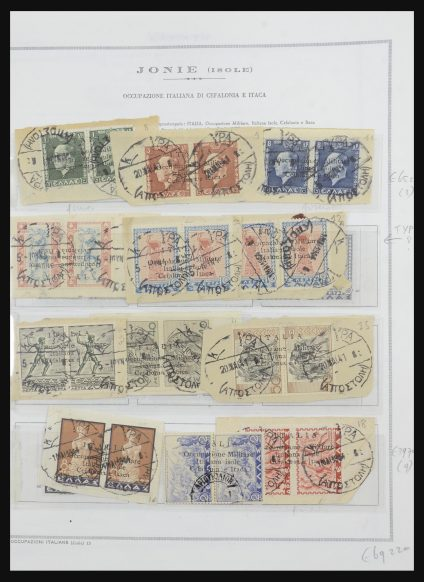 Stamp collection 31875 Italian occupation Ionian Islands 1940-1944.