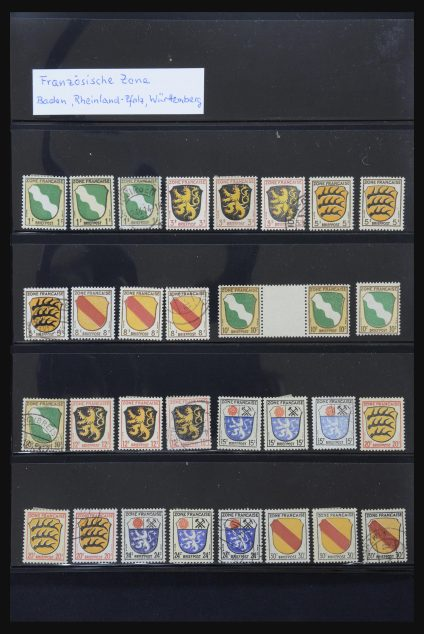 Stamp collection 31876 French Zone 1945-1948.