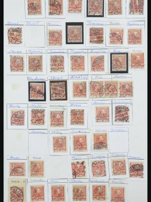 Stamp collection 31878 Denmark cancels 1904-1912.
