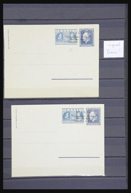 Stamp collection 31896 Italy Cefalonia and Itaca postal stationeries 1941.