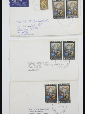 Stamp collection 31951 New Zealand FDC's ca. 1960-1970.