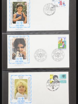 Stamp collection 31957 Unicef year of the child 1979.