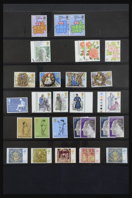 Stamp collection 31977 Great Britain 1980-2008.
