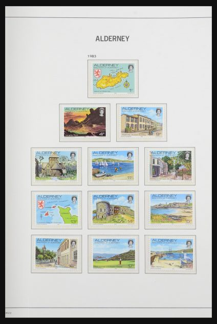 Stamp collection 31978 Alderney 1983-2019!