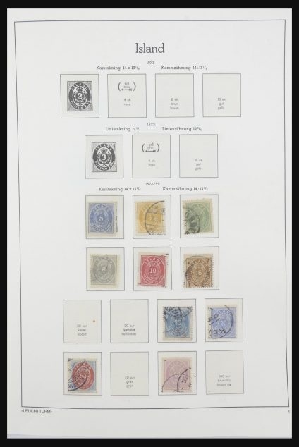 Stamp collection 32031 Iceland 1876-1991.