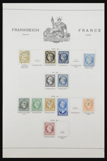 Stamp collection 32033 France and colonies 1849-1932.