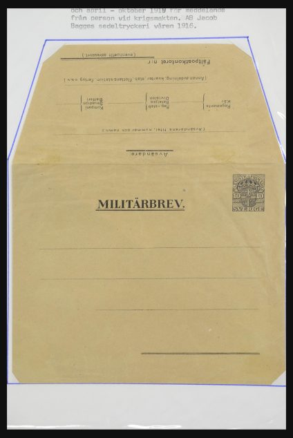 Stamp collection 32035 Sweden military post 1902-1976.