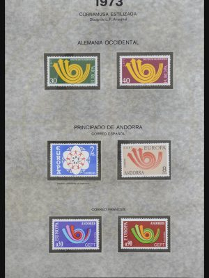 Stamp collection 32044 Europa CEPT 1973-2001.