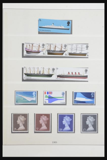 Stamp collection 32047 Great Britain 1969-1985.