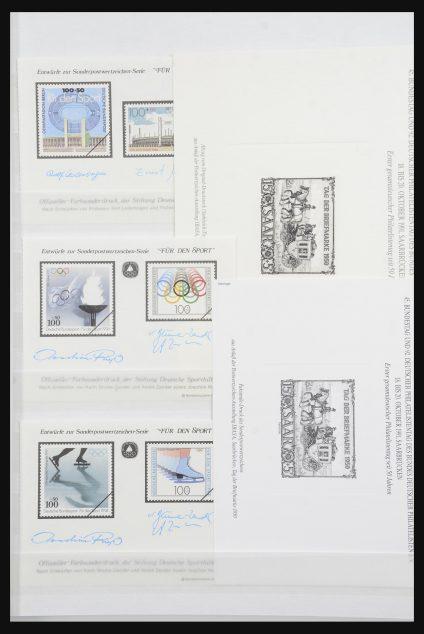 Stamp collection 32050 Bundespost special sheets 1980-2010.