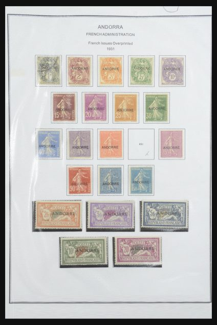 Stamp collection 32057 French Andorra 1931-1991.