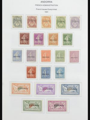 Stamp collection 32058 French Andorra 1931-2015.