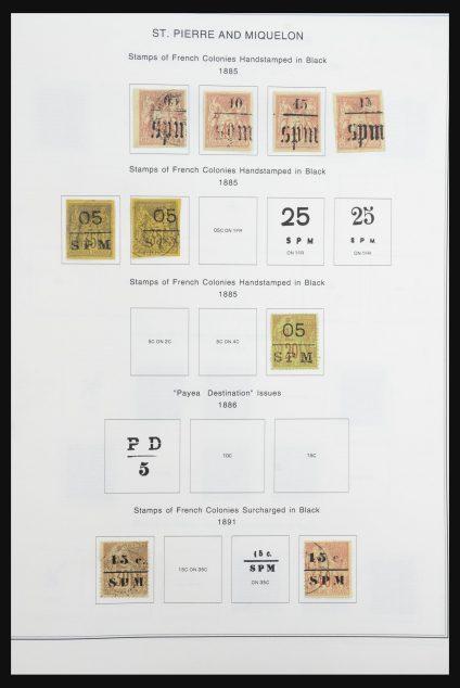 Stamp collection 32061 St. Pierre et Miquelon 1885-1991.