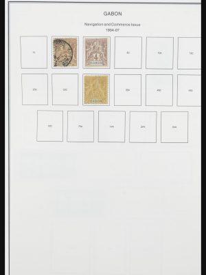 Stamp collection 32075 Gabon 1904-1987.