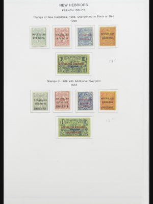 Stamp collection 32077 New Hebrides 1908-1979.