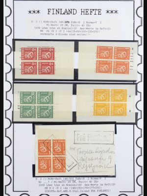 Stamp collection 32082 Finland stamp booklets 1939-1995.