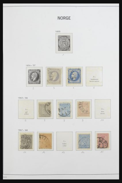 Stamp collection 32083 Norway 1856-1995.