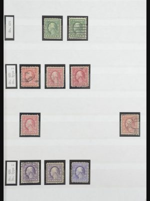 Stamp collection 32098 USA 1913-1922.