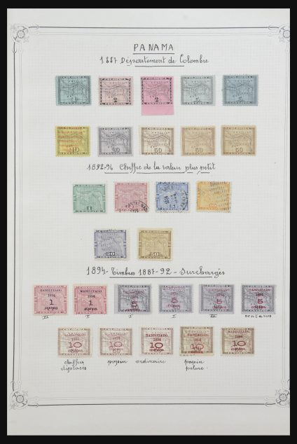 Stamp collection 32101 Panama 1887-1911.