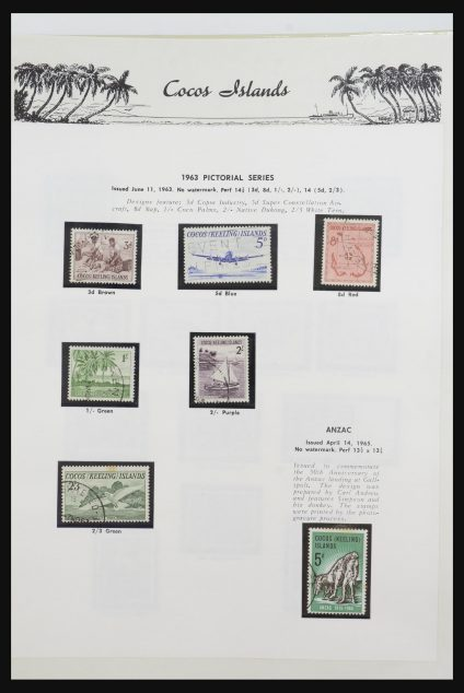 Stamp collection 32107 Cocos Islands 1958-2014!