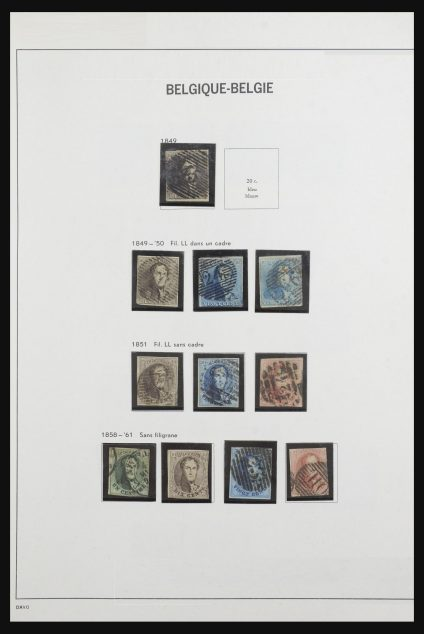 Stamp collection 32113 Belgium 1849-1999.