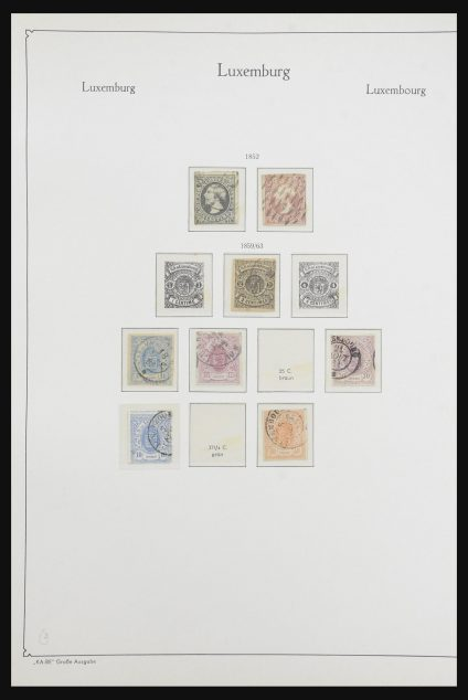 Stamp collection 32119 Luxembourg 1852-1973.