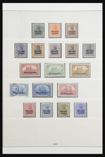 Stamp collection 32140 Memel 1920-1923.