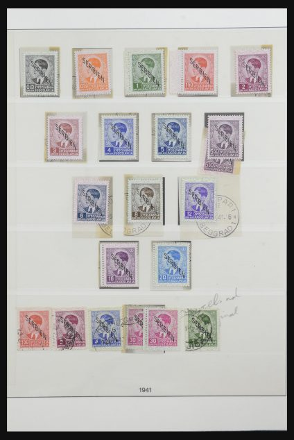 Stamp collection 32142 German occupation Serbia 1939-1945.