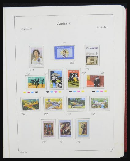 Stamp collection 32132 Australia 1980-1995.