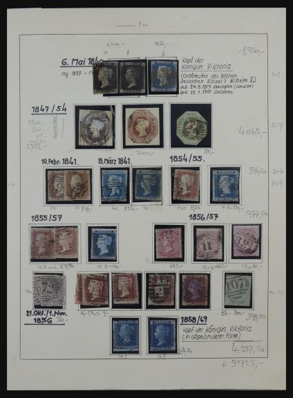 Stamp collection 32154 Great Britain 1840-1980.