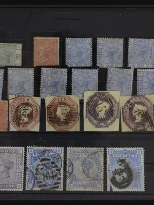 Stamp collection 32160 Great Britain 1847-1910.