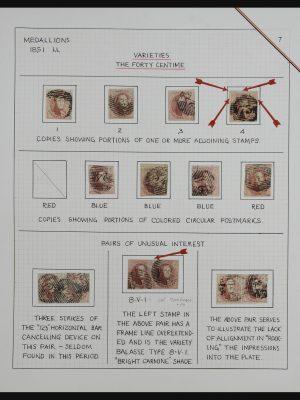 Stamp collection 32163 Belgium 1851.