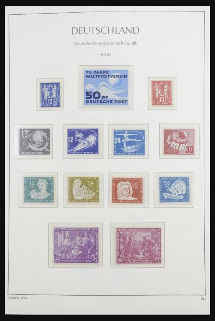 Stamp collection 32165 DDR 1949-1990.