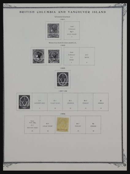 Stamp collection 32169 Canada and provinces 1869-1963.