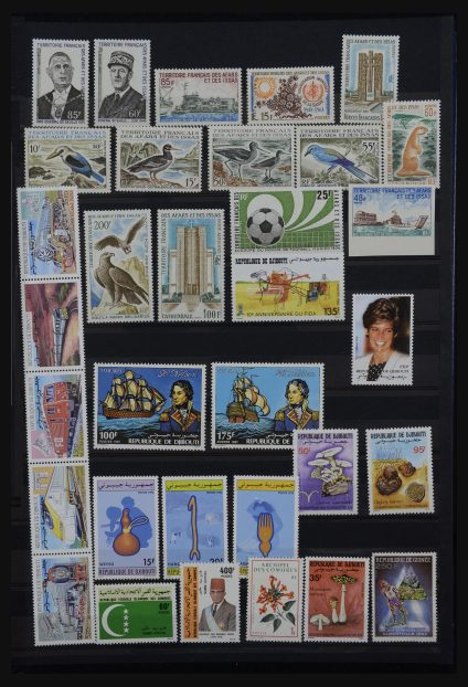 Stamp collection 32181 French colonies in Africa 1880-1980.